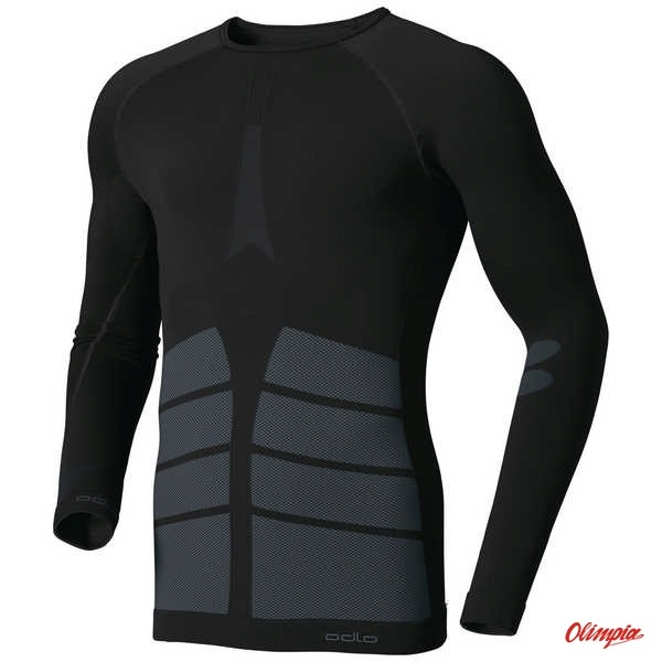 d88c6150b20440 Koszulka techniczna Odlo Evolution Warm 180902 15000 czarna męska ...