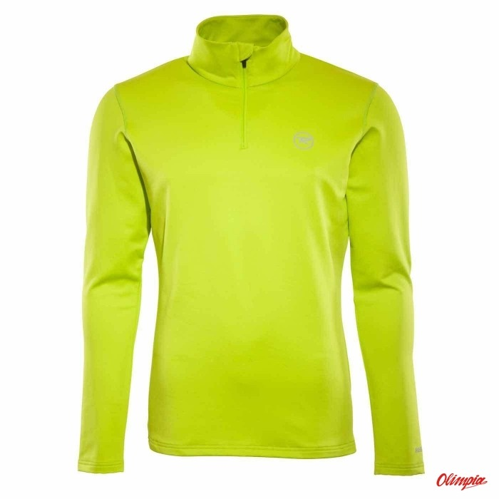 Hoodie Rossignol Stretch 1/2 RLFML05 punch lime 621 mens