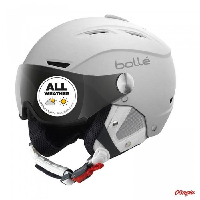 d68afa86 Bolle Backline Visor Soft Whitek Silver Ski Helmet - Ski helmets ...