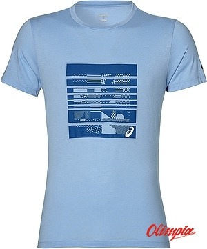 Koszulka biegowa męska ASICS SS GRAPHIC TOP