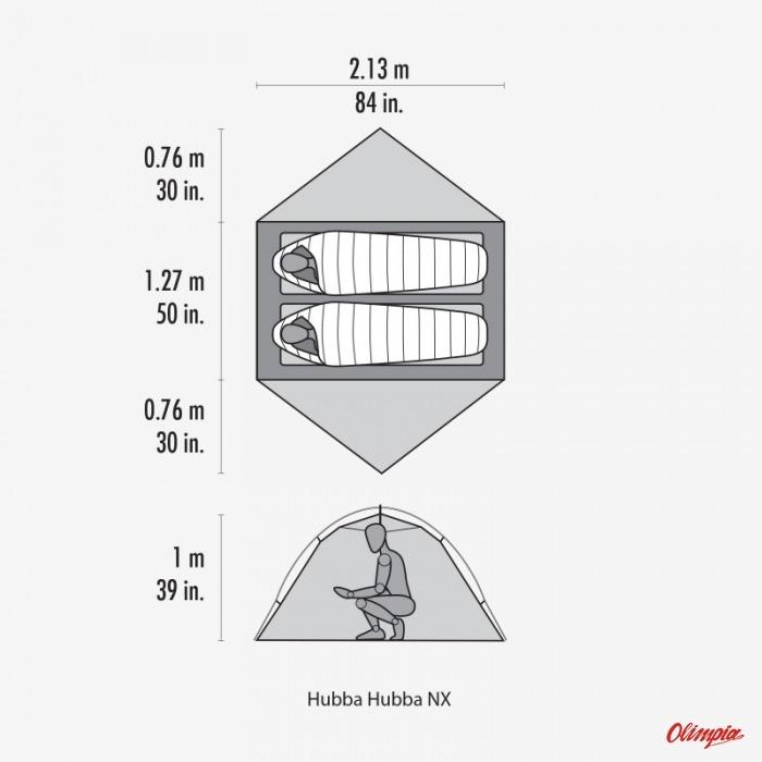 d54198a5d406f7 MSR Hubba Hubba NX 2-Person Backpacking Grey Tent - Tents MSR ...