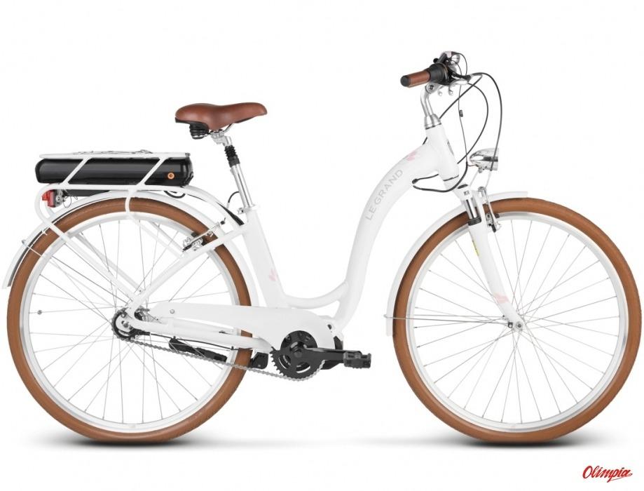Rower Elektryczny Le Grand Elille 3 Białyróżowy Połysk 2018