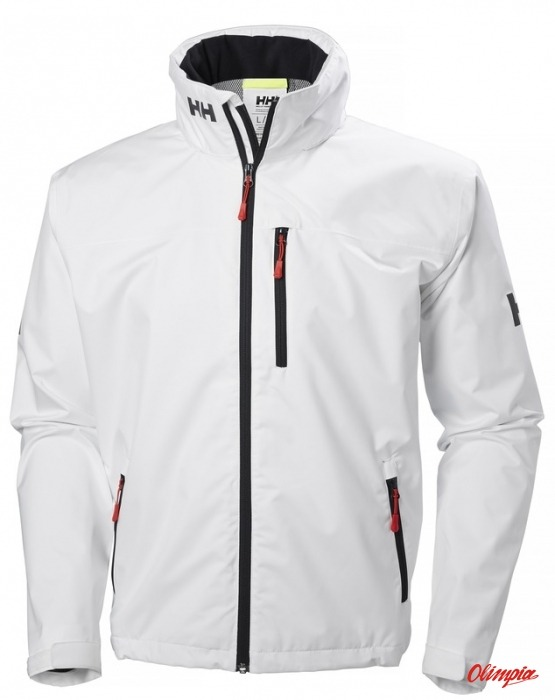 helly hansen crew hooded jacket for sailors men s white. Black Bedroom Furniture Sets. Home Design Ideas