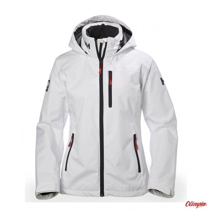 32e2e83f49cd95 Kurtka żeglarska damska Helly Hansen W Crew Hooded Jacket biała ...