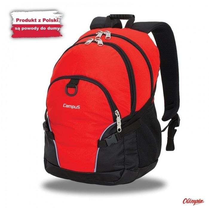 38cf0a12c11c0 Plecak Miejski Campus Kornat 30l czerwony-czarny - Backpacks to 30 ...