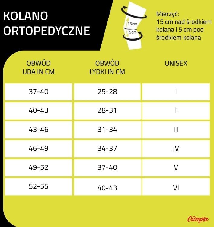 6802190208d58 Cep kolano ortopedyczne - Tabela rozmiarów - Sportowy Sklep ...