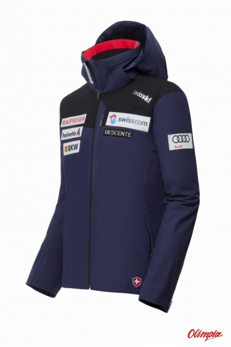 c6aabb698 Ski Jacket Descente Swiss Ski Replica DWMMGK10S-64 2018 2019 men ...