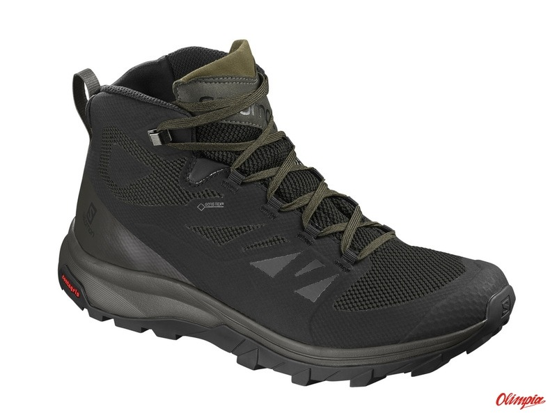Salomon OUTline Mid GTX BlackBelugaCapers trekking shoes Products Archive