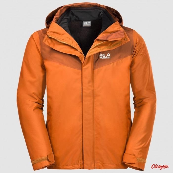 Kurtka Jack Wolfskin Arland 3w1 męska desert orange Archiwum Produktów