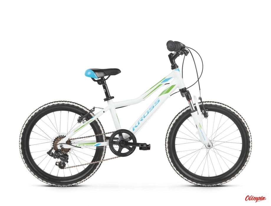 8a091a8294 Kross Lea Mini 2.0 white blue green glossy 2019 bike - Kross Bikes ...