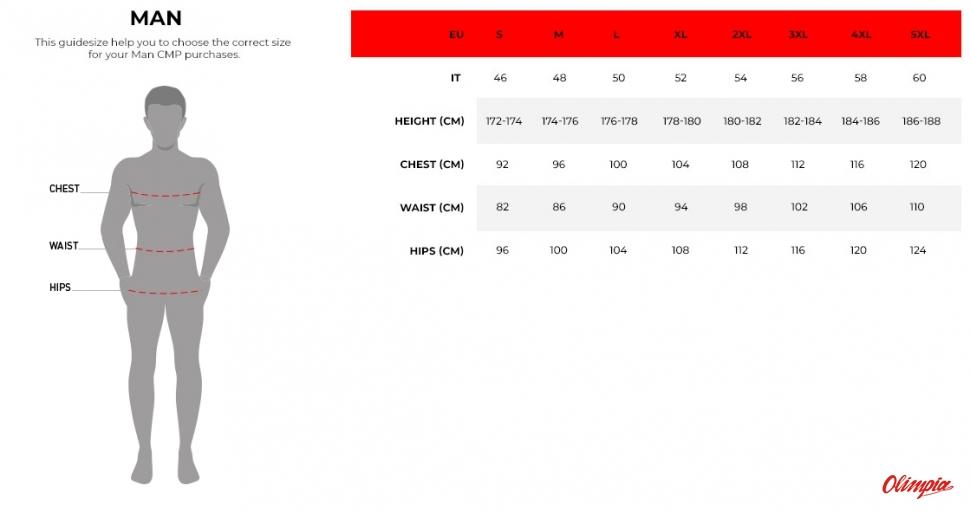 eaeee4d1cbcff Campagnolo - odzież męska - tabela rozmiarów - Sportowy Sklep Internetowy -  OlimpiaSport.pl - rowery,narty,rowery cube,rowery kross,rowery  kellys,e-rowery ...