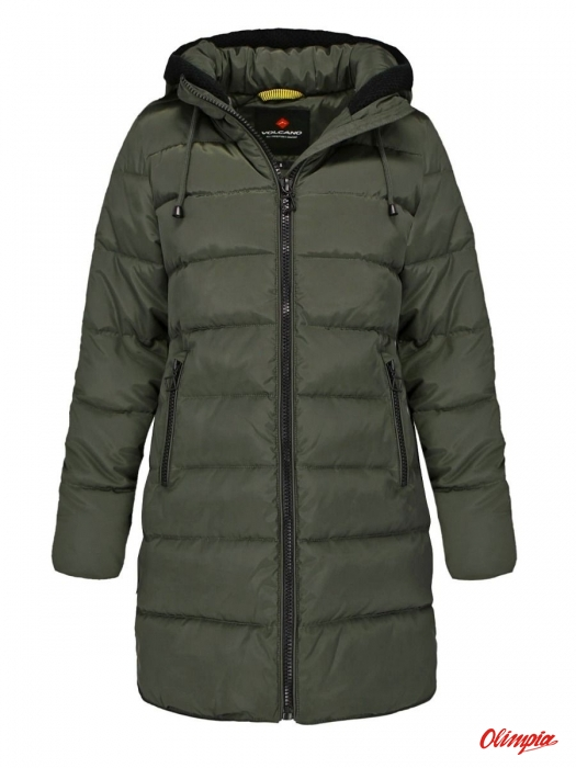 kurtka zimowa pikowana Volcano J LISMA zielony