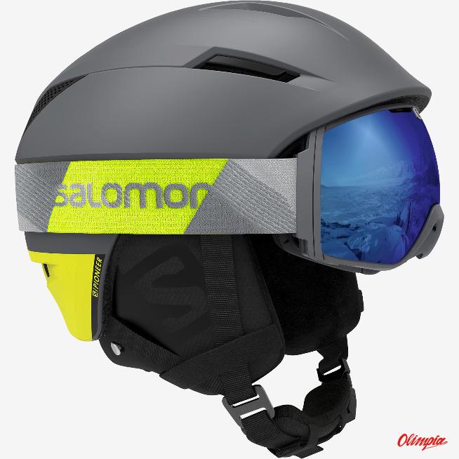 Kask narciarski Salomon PIONEER C.AIR BlackRACE BLUE 20192020