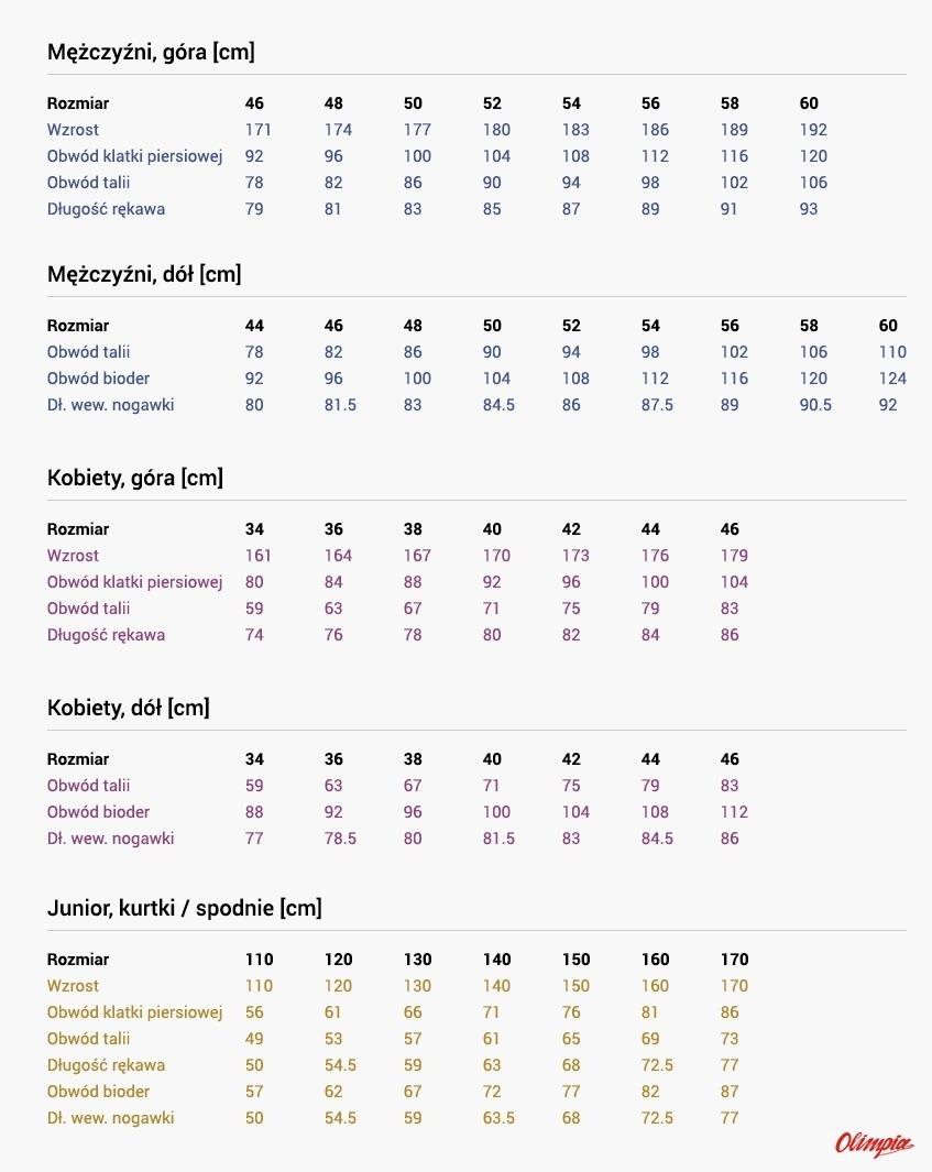 5955b54020d3d Descente - Odzież - Tabela rozmiarów - Sportowy Sklep Internetowy -  OlimpiaSport.pl - rowery,narty,rowery cube,rowery kross,rowery  kellys,e-rowery,fjord ...